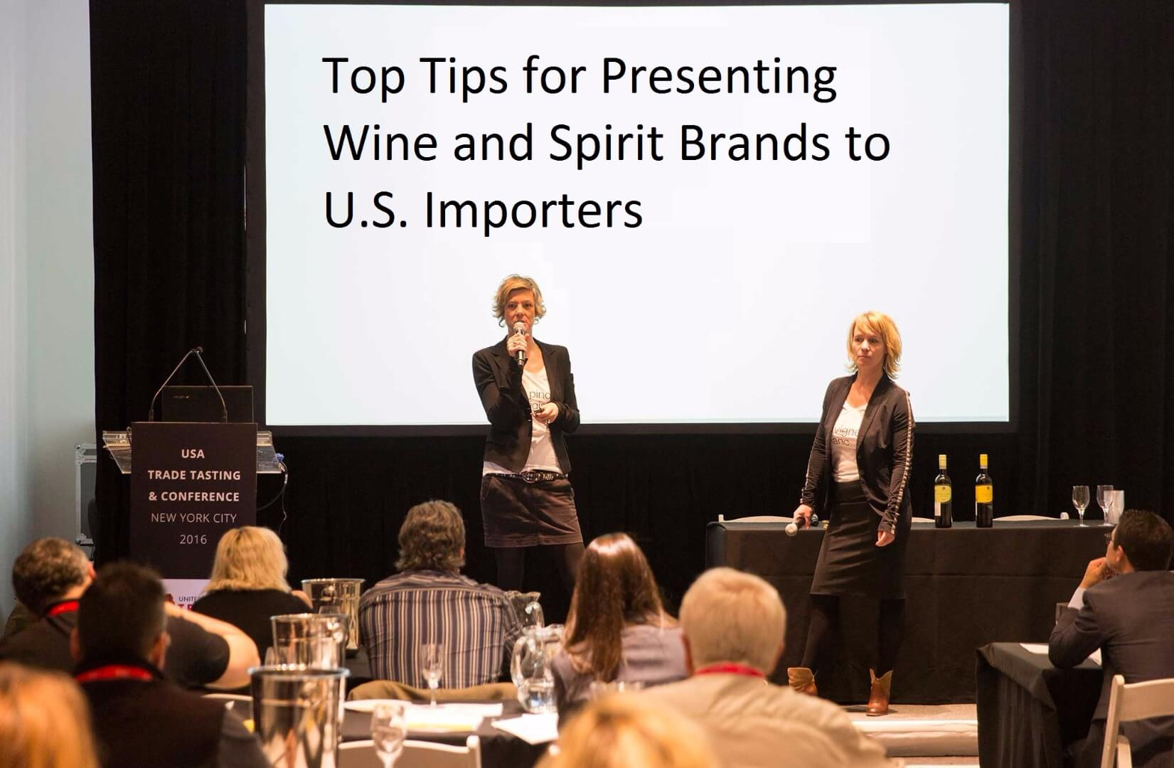 poster for Top Tips for Presenting Wine and Spirit Brands to U.S. Importers