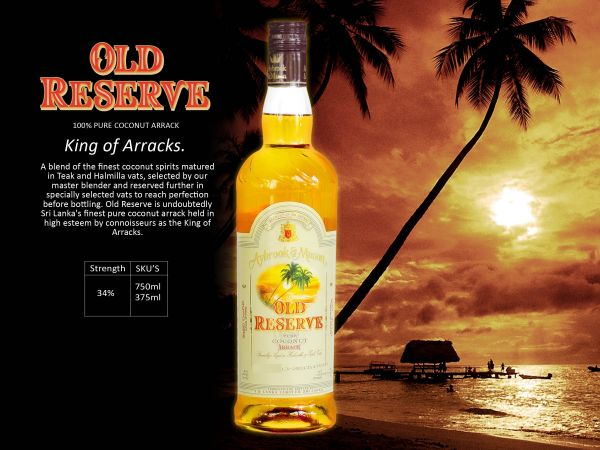 old reserve coconut arrack international marketing Arrack, also spelt arak, is a distilled alcoholic drink typically produced in the  indian  sri lanka is the largest producer of coconut arrack and up until 1992  the government  premium brands include ceylon arrack, vsoa, vx, vat9, old  reserve and extra special  white lion vsoa entered the american market  soon after.