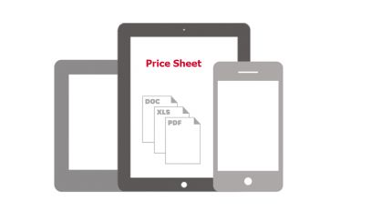 Photo for: Pricing Sheet